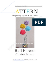Ball Flower Crochet Pattern