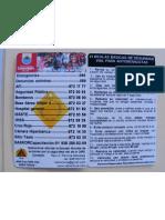 Tarjeta de Pvc Del Proyecto Network Vial Cozumel