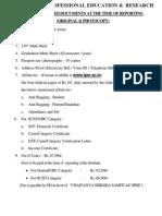 Checklist & Format of Affidavit