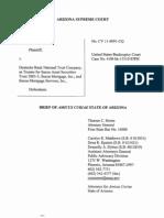 Arizona Supreme Court - Amicus Curiae, Thomas C. Horne, AZ Attorney General - Julia Vasquez Vs. Deutche Bank