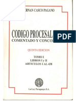 Código Procesal Civil Comentado y Concordado_ Henán Casco Pagano  (Tomo I)