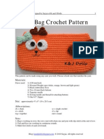 Cat Bag Crochet Pattern