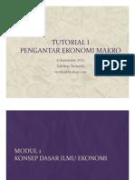 TUTORIAL I Pengantar Makro Ekonomi