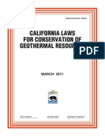 California Regs Conservation of Geothermal Resources