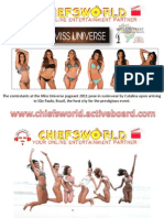 Miss Universe 2011 Swimwear Pictures