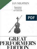 Milstein - a Per Violino Solo