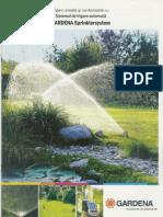 Ghid Pentru Proiectarea Si Realizarea Sistemului de Irigare Automata GARDENA Sprinkler System