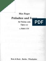 Preludio e Fuga Per Violino Solo - Op. 117, No. 1