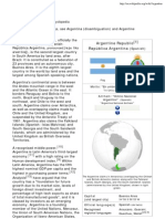 Argentina - Wikipedia, The Free Encyclopedia