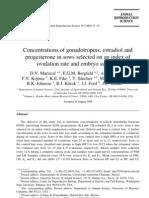 Concentrations of Gonadotropins Estradiol And