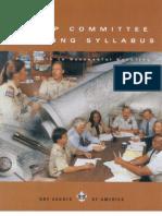 Troop Committee Training Syllabus