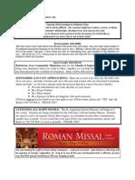 Bulletin - September 4, 2011