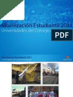 Movilización estudiantil universidades CRUCH