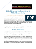 Digital Literacy- the Foundation of ASEAN Connectivity