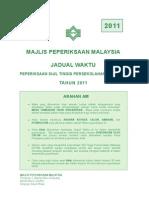Jadual STPM 2011