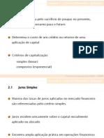 Cap 02 - Cálculo Financeiro e Aplicações