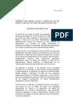 Ley de Simplificacion de Tramites Administrativos