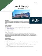 Law & Society Syllabus