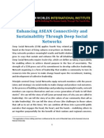 Enhancing and Sustaining ASEAN ConnectivityThrough Deep Social Networks