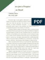 Novos Rumos para a Pesquisa Lingüística no Brasil