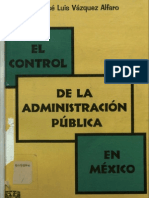 El Control de La Admin is Trac Ion Publica