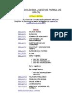 REGLAS OFICIALES DEL JUEGO DE FÚTBOL DE SALÓN