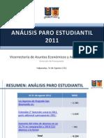 Analisis Paro Estudiantil, VREA