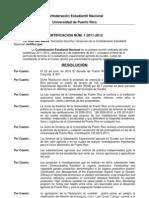 Certificación Núm. 1 2011-2012 - Confederacion Estudiantil Nacional