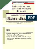 Inventario de bienes SBN