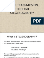 Secure Transmission Through Stegenography Coll