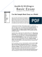 Guide to Writing a Basic Essay_ Sample Essay