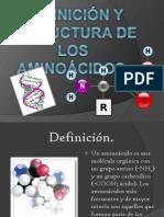 Definición y estructura de los aminoácidos