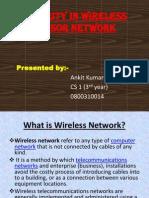 Security in Wireless Sensor Network