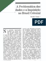 VAINFAS, Ronaldo - A problemática das mentalidades e a Inquisição no Brasil Colonial