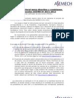 Proceso Electoral ASEMECH 2011-2012