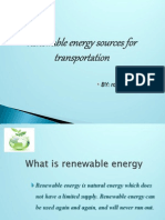 Renewable Energy Sources for Transportation
