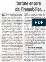 Le Canard enchainé - 2007.03.21 - Sarkozy torture encore les prix de l'immobilier (affaire du gros cadeau qu'il a reçu d'un promoteur immobilier quand il était maire de Neuilly)