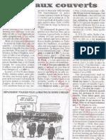 Le Canard enchainé - 2007.04.18 - 326 policiers pour protéger le 'courageux' déplacement de Sarkozy en banlieue... aurait-il peur des racailles