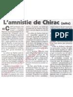 Le Canard enchainé - 2007.04.18 - L'amnistie de Chirac (promise par Sarkozy en échange du soutien de Chirac)