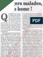 Le Canard enchainé - 2007.05.02 - Etrangers malades go home (instructions données par Sarko juste avant de partir)