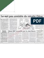 Le Canard enchainé - 2007.05.02 - Le sort peu enviable du retraité Chirac (qui ne va toucher 'que' 30.000 euros par mois)