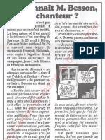 Le Canard enchainé - 2007.05.02 - Qui connaît M. Besson, vous savez, le traître du PS