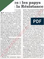 Le Canard enchainé - 2007.05.09 - Glières, les papys font de la Résistance
