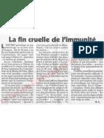 Le Canard enchainé - 2007.05.23 - Avec la fin cruelle de son immunité, Chirac va t'il enfin être traduit en justice