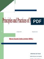 Principles and Practices of Management(Deepak Presentation)