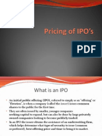 chap 2- Pricing of IPO's