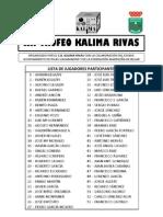 XII Trofeo Kalima-Rivas