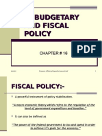 Budgetary and Fiscal Policy