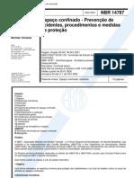 14787 - ABNT - NBR - Espaco Confinado - Prevencao de Acidentes Procedimentos E Medidas de Proteca