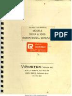 Wavetek 1001a 1005 Sweep Generator